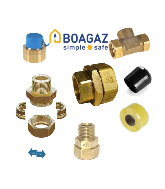 Boagaz PLT End Fittings für Gasleitungen aus Edelstahlwellrohr