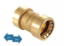 Bänninger Conex Doppelmuffe 18 mm I+I  Steckfitting DZR-Messing