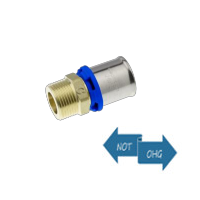 Pressfitting f. Metallverbund - Übergangsstück AG Messing 20x1/2