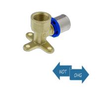 Pressfitting f. Metallverbund - Übergangswandwinkel IG Messing 20x1/2