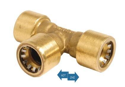 Bänninger Conex T -Stück 15x15x15 mm I+I+I Steckfitting DZR-Messing