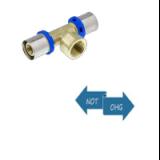 Pressfitting f. Metallverbund - T-Stück 20 x 1/2 x 20